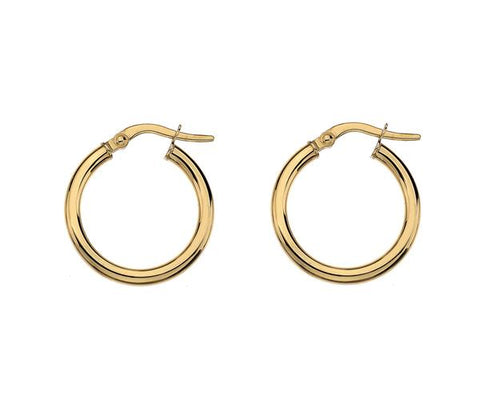 MINKA GEMS  Gold Hoops Medium