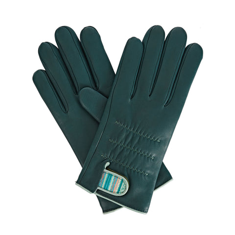 Anna Women's Leather Gloves in Green