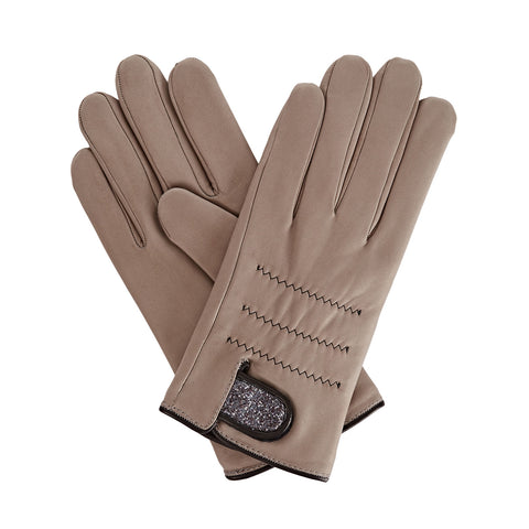 Anna Women's Leather Gloves in Grey