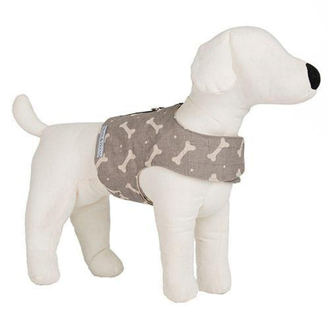 Luxury M&H Mushroom Bone Linen Soft Harness  - Mutts and Hounds