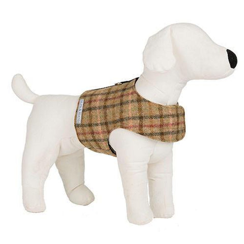 Luxury Balmoral Check Tweed Soft Harness  - Mutts and Hounds
