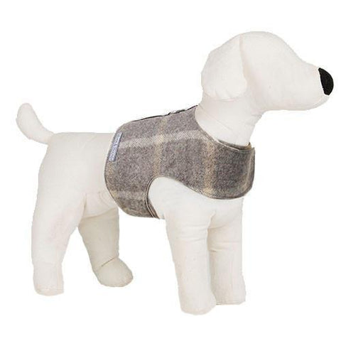 Luxury Slate Tweed Soft Harness  - Mutts and Hounds