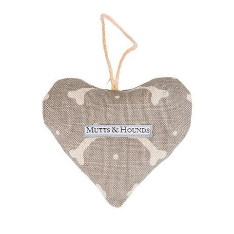 Luxury M&H Mushroom Bone Linen Lavender Heart  - Mutts and Hounds