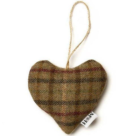 Luxury Balmoral Tweed Lavender Heart  - Mutts and Hounds