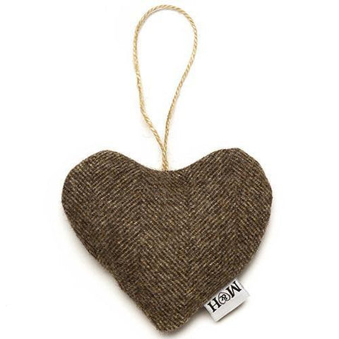 Luxury Herringbone Tweed Lavender Heart  - Mutts and Hounds
