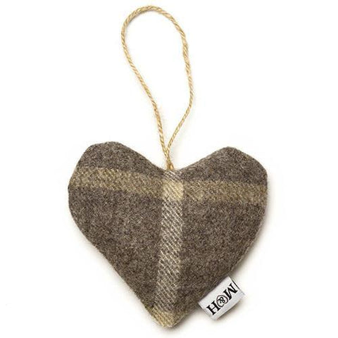 Luxury Slate Tweed Lavender Heart  - Mutts and Hounds