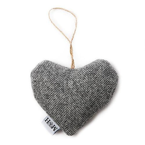 Luxury Stoneham Tweed Lavender Heart  - Mutts and Hounds