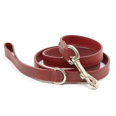 Luxury Grape Leather Lead  - Mutts and Hounds