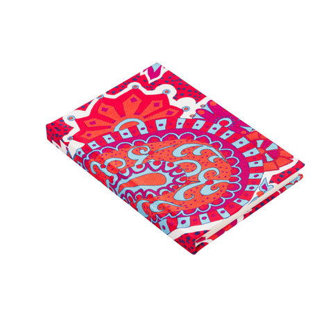 Longstaff Longstaff Royal Paisley A6 silk notebook
