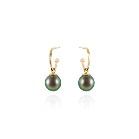 MINKA GEMS  Tahitian Pearl Drop Earrings
