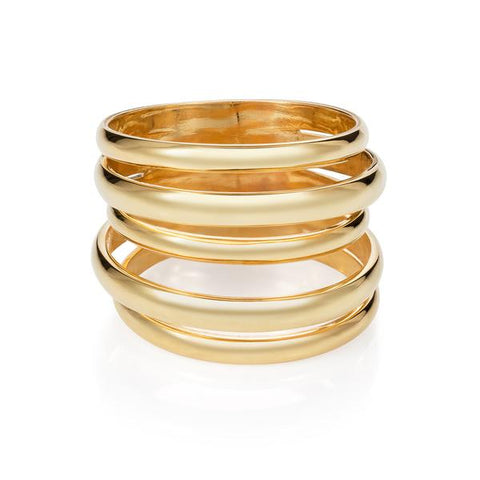 MINKA GEMS  Berlin Ring Gold Plated