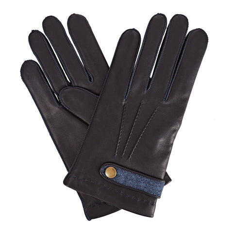 Alfie  Men's Leather Gloves in Navy