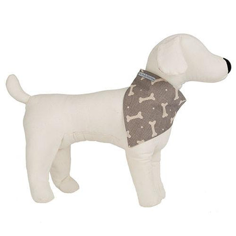 Luxury M&H Mushroom Bone Linen Neckerchief  - Mutts and Hounds