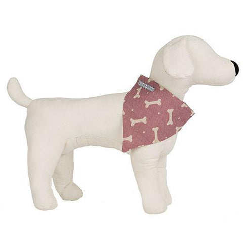 Luxury M&H Heather Bone Linen Neckerchief  - Mutts and Hounds