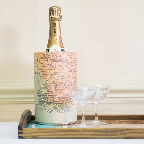 Personalised Vintage Map Wine Cooler