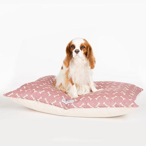 Luxury M&H Heather Bone Linen Pillow Bed  - Mutts and Hounds