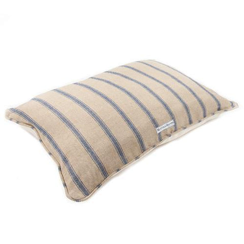 Navy Nordic Stripe Pillow Bed