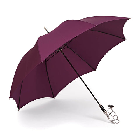 Nirvana Long Umbrella in Aubergine