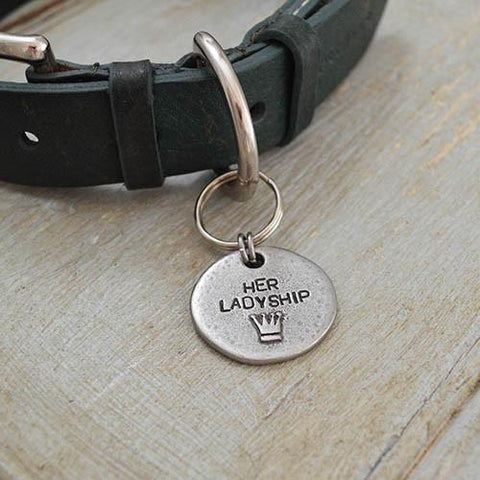 Luxury Her Ladyship Pewter Dog Tag  - Mutts and Hounds
