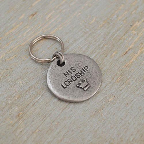 Luxury His Lordship Pewter Dog Tag  - Mutts and Hounds
