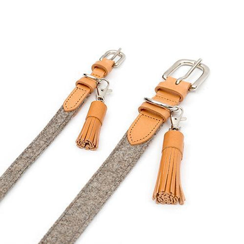 Camello Leather Tassel Clip