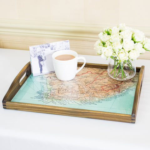 Personalised Vintage Map Tray