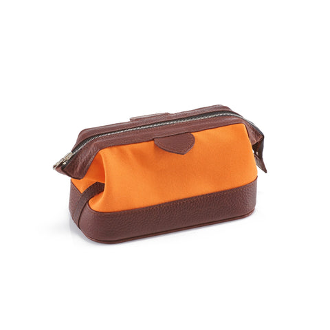Daines & Hathaway Small Wash Kit Canvas Orange