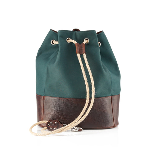 Daines & Hathaway Duffle Bag Canvas & Leather Green