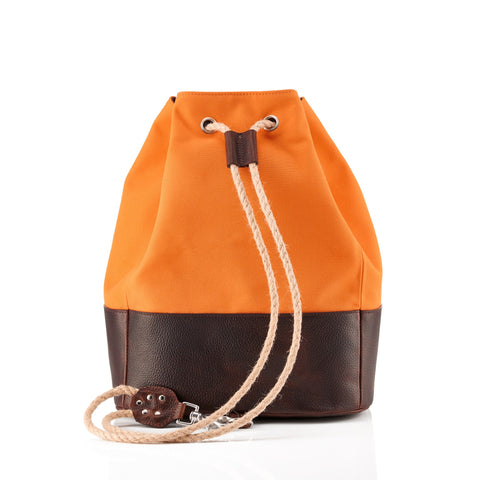 Daines & Hathaway Duffle Bag Canvas & Leather Orange