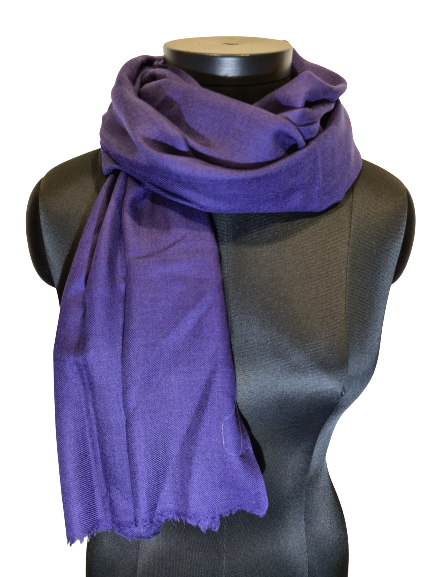 Dyp lilla cashmere skjerf (106)