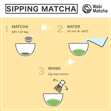 Load image into Gallery viewer, How to prepare sipping matcha by Wabi Matcha