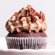 Chocolate Bourbon Pecan Pie Cupcake