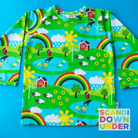 JNY Kids Summer Rainbow Long Sleeve Top