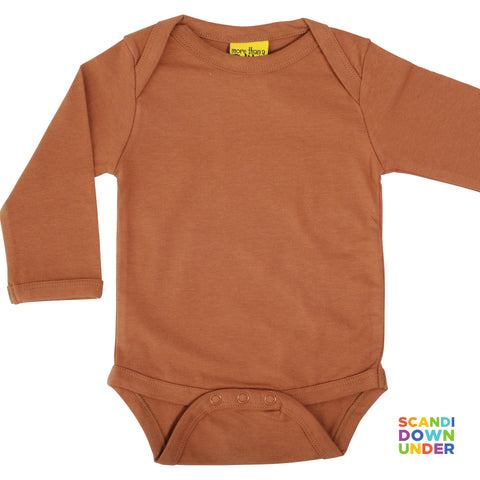 More Than A Fling Organic Bodysuit - Chipmunk Brown (Long Sleeve)
