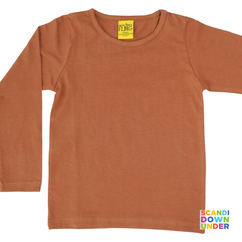 More Than A Fling Adult Long Sleeve Top - Chipmunk Brown