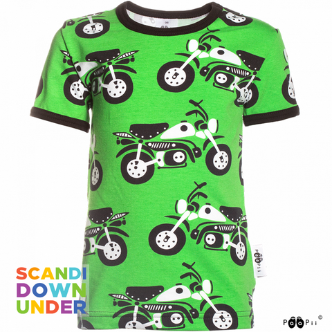 PaaPii Motorcycle T-Shirt - Green