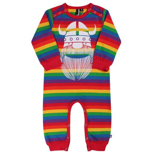 Danefae Erik the Viking Romper Suit - Rainbow Stripes