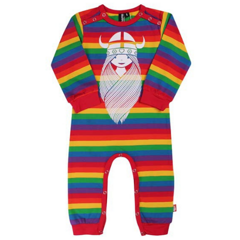 Danefae Freja the Viking Romper Suit - Rainbow Stripes