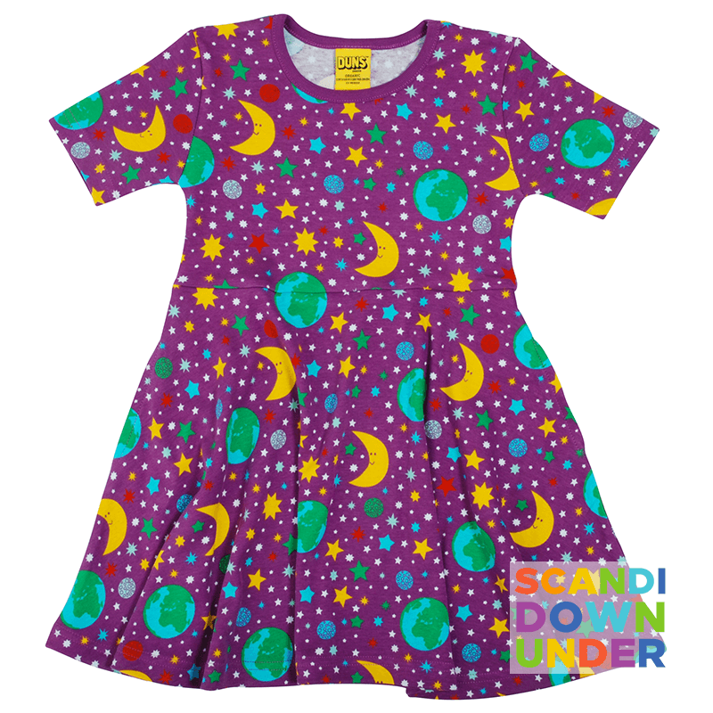 DUNS Sweden Mother Earth Skater Dress - Short Sleeve  - Bright Violet