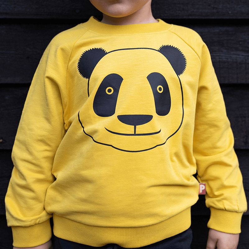 DYR Cph Kids Panda Sweatshirt - Yellow