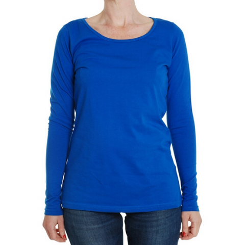 More Than A Fling Adult Long Sleeve Top - Blue
