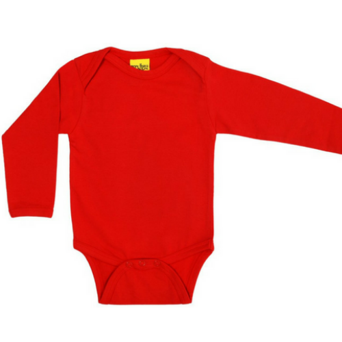 More Than A Fling Organic Bodysuit - Red (Long Sleeve)