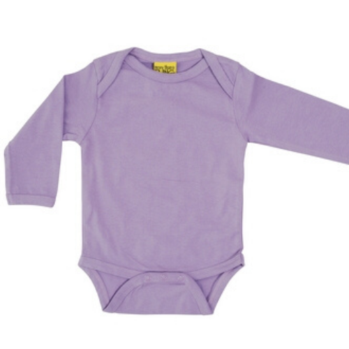 More Than A Fling Organic Bodysuit - Violet (Long Sleeve)