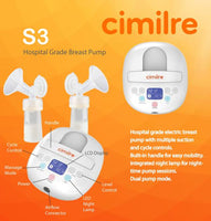 Cimilre S3 Dual Hospital Grade Electric Breast Pump