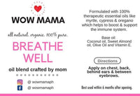 Wow Mama Breathe Well Oil Blend (specially crafted by Mom❤) 5ml Roller Bottle