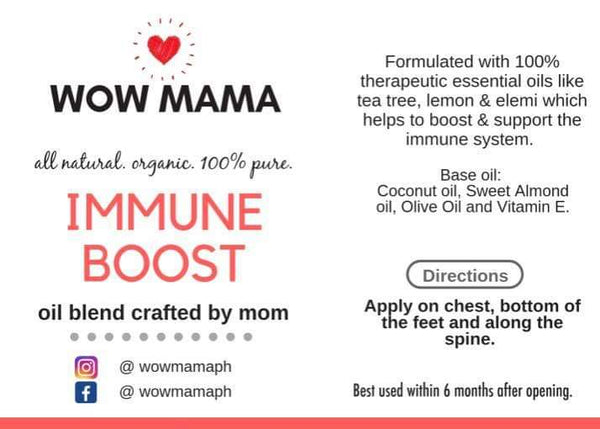 Wow Mama Immune Boost Oil Blend (specially crafted by Mom ❤) 5ml Roller Bottle