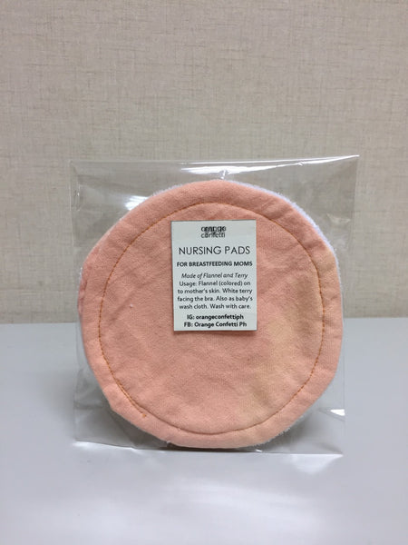 Orange Confetti Nursing Pads