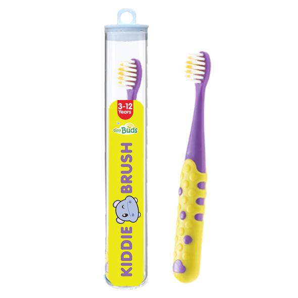 Tiny Buds Kiddie Toothbrush Yellow-Purple (3-12 yrs old)
