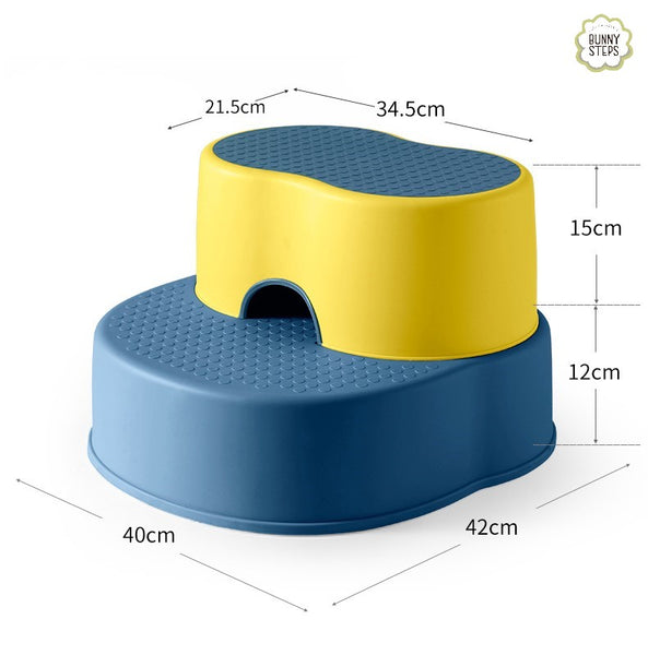 Bunny Step Stool Blue & Yellow