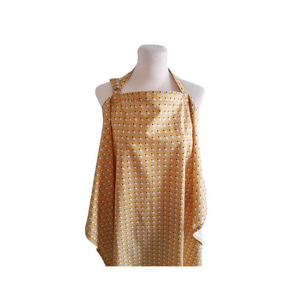 LITTLE COCOY NURSING APRON MUSTARD DOTS
